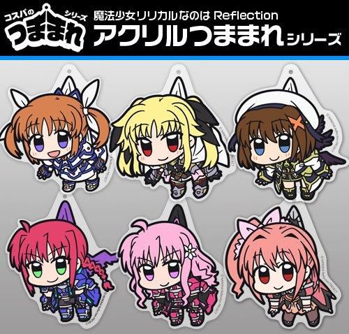 Magical Girl Lyrical Nanoha Reflection Fate - Tsumamare Cospa Pinch Acrylic Strap