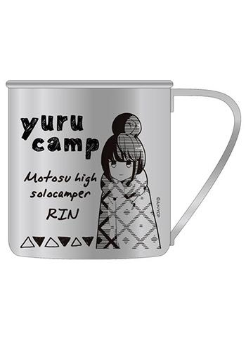 Yuru Camp Rin Shima COSPA Character Metal Tin Water Coffee Tea Cup / Mug