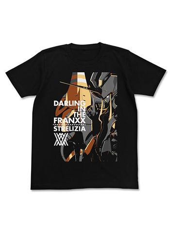 Darling in the FranXX Strelizia Character Cospa T-shirt Black