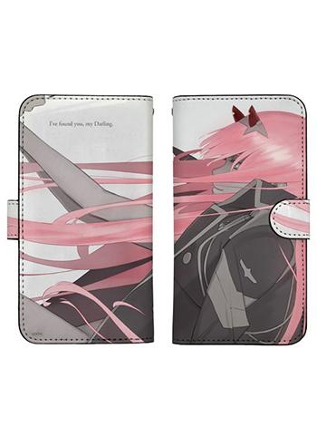 Darling in the Franxx Zero Two Book Type Character Smart Phone Pouch for iPhone