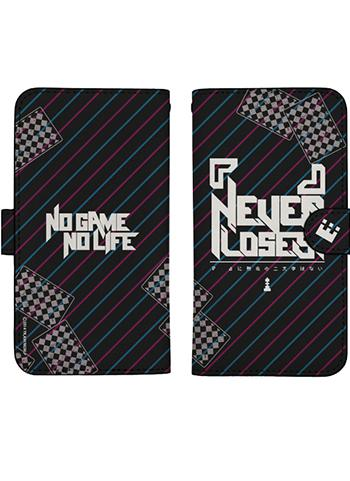 No Game No Life Kuuhaku Never Loses Book Type Character Smart Phone Pouch for iPhone