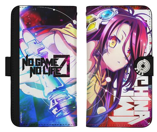 No Game No Life Schwi Zero Shuvi Dola Book Type Character Smart Phone Pouch for iPhone