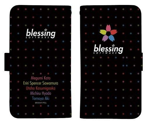 Saekano Flat Blessing Software Book Type Character Smart Phone Pouch for iPhone