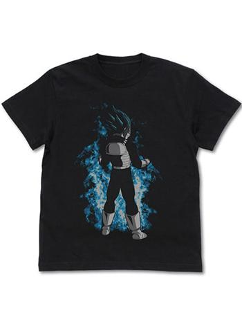 Dragon Ball Super Super Saiyan Blue Vegeta Character Black Cotton T-shirt Cospa