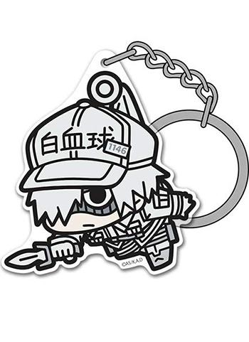 Cells at Work! White Blood Cell (Neutrophils) - Character Acrylic Mascot Key Chain