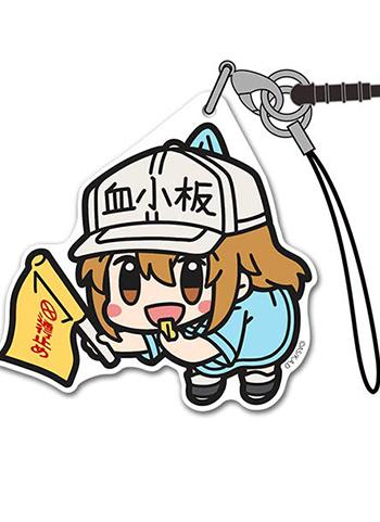 Cells at Work! Platelet - Character Acrylic Mascot Strap