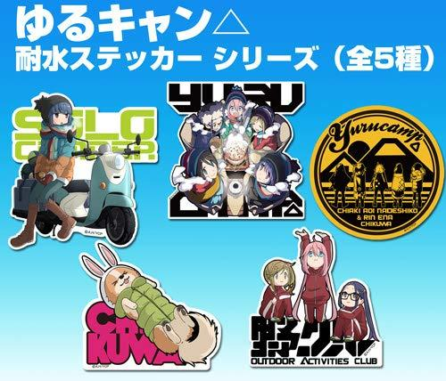 Yuru Camp Full Cast - Character Waterproof Decal Sticker