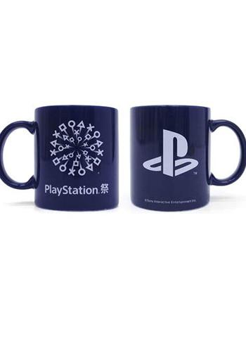 PlayStation` Festival 2018 Model - Cospa Character Blue Navy Mug Cup