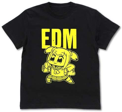 Pop Team Epic - EDM - Character Cotton Black T-shirt Cospa Glow in The Darkness