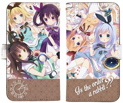 GochiUsa Is the Order a Rabbit?? Notebook Type Character Smart Phone Pouch for iPhone