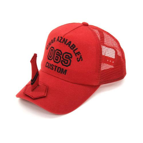 Mobile Suit Gundam Char Aznable`s Zaku - Character Red Mesh Cap