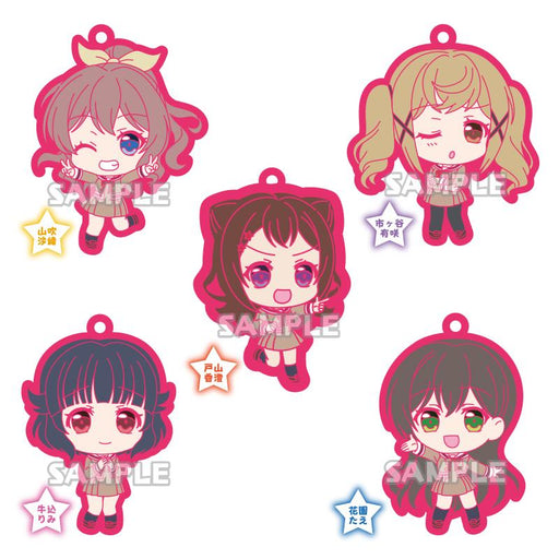 Bang Dream! Bandori Poppin'Party Uniform Ver. Character Rubber Mascot Strap Vol.3