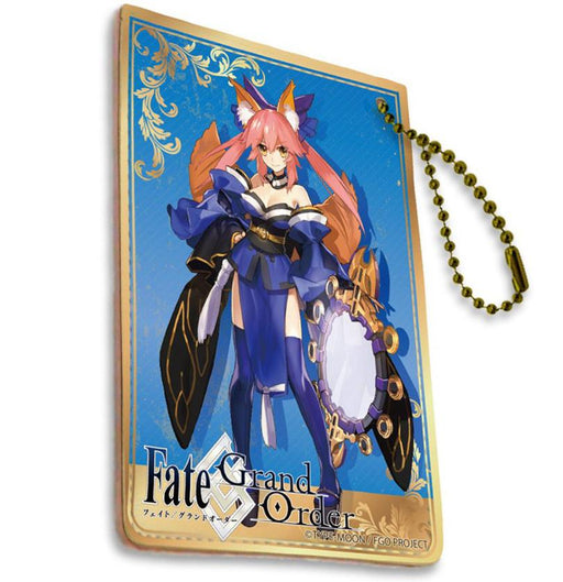 Fate Grand Order Caster Tamamo no Mae Full Color Ball Chain Pass Case FGO