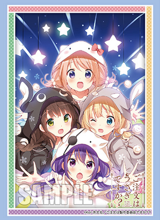 Is the Order a Rabbit Gochiusa - Rize Chiya Cocoa Syaro - Event Exclusive Sleeves Vol.208