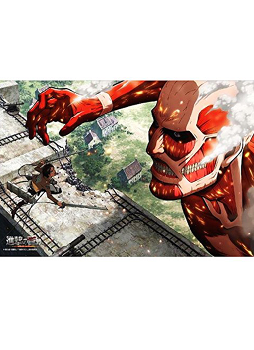Attack on Titan - Eren VS Colossus - Rubber Play Mat