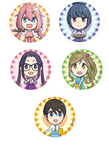 Yuru Camp Cafe Exclusive Character Can Badge