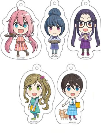 Yuru Camp Cafe Exclusive Character Key Chain Mascot Individuals
