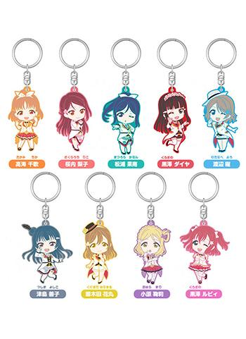 Love Live! Sunshine!! Mirai Ticket Nendoroid Plus Rubber Key Chain Mascot Blind Box