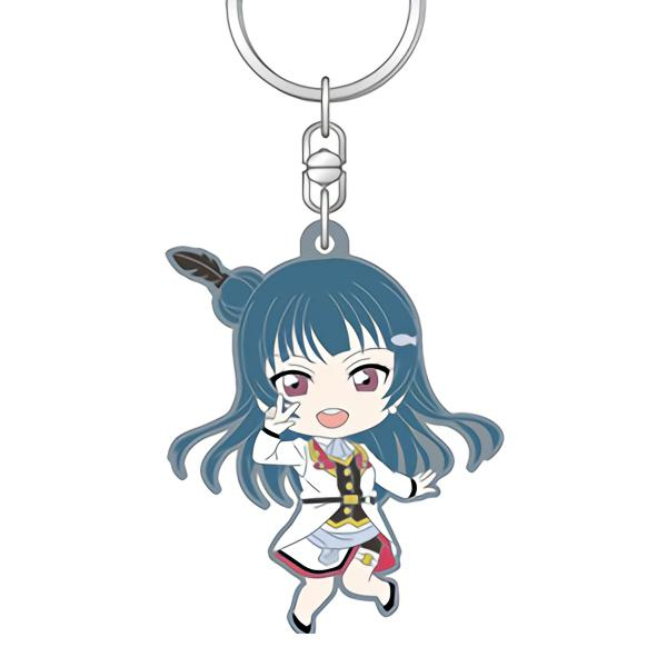 Love Live! Sunshine!! Yoshiko Mirai Ticket Nendoroid Plus Candy Rubber Key Chain Mascot
