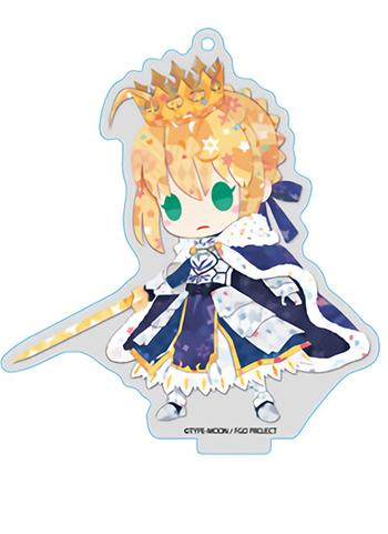 Fate Grand Order FGO Fes GSC Saber Altria Pendragon - Exclusive Acrylic Key Chain w/Stand