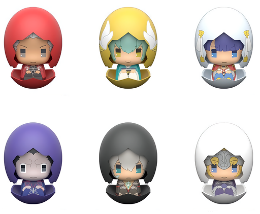 Fate/Grand Order Piyokuru Character Egg Capsule Toy Ball Chain Vol.2