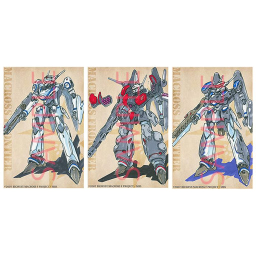 Macross Kawamori Expo Design Sketch VF-25 Character Post Card Set