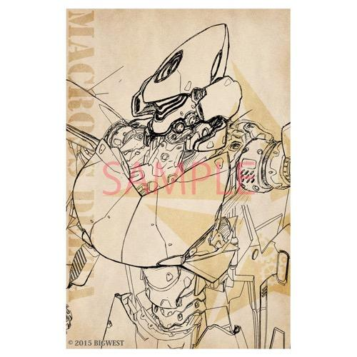 Macross Kawamori Expo Design Sketch VF-31 Draken III Character Post Card Set