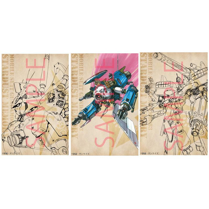 Mobile Suit Gundam 0083 Stardust Memory/GP-01 Kawamori Expo Design Sketch  Post Card Set