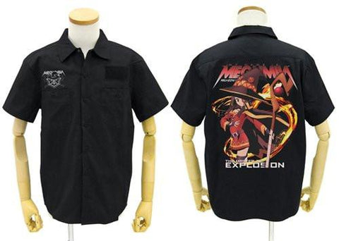 Konosuba - Megumin - Black Work Shirt - Sizes L / XL Full Color Back Cospa