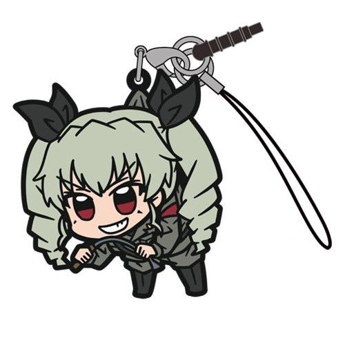 Girls und Panzer - Anchovy - Pinch Tsumamare Phone Strap