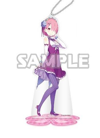 Re:Zero Starting Life in Another World Ram Birthday Acrylic Stand Key Chain Mascot (Creator's Ver.)