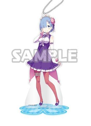 Re:Zero Starting Life in Another World Rem Birthday Acrylic Stand Key Chain Mascot (Creator's Ver.)
