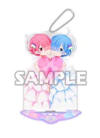 Re:Zero Starting Life in Another World Rem & Ram Birthday Acrylic Stand Key Chain Mascot (Anime Ver.)