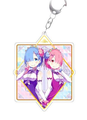 Re:Zero Starting Life in Another World Rem & Ram Birthday Acrylic Key Chain Mascot (Creator's Ver.)