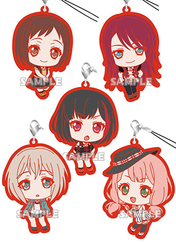 Bang Dream! Afterglow Character Capsule Rubber Mascot Strap Bushiroad
