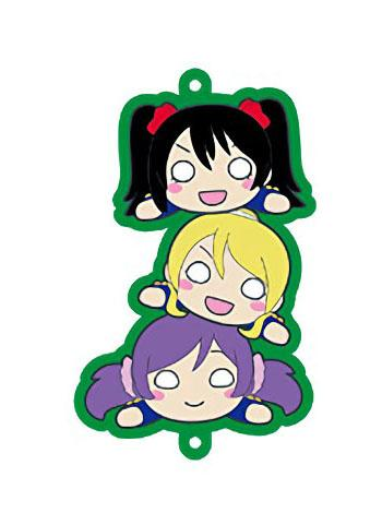 Love Live! Muse Nico Nozomi Eli Collab Cafe Character Rubber Strap