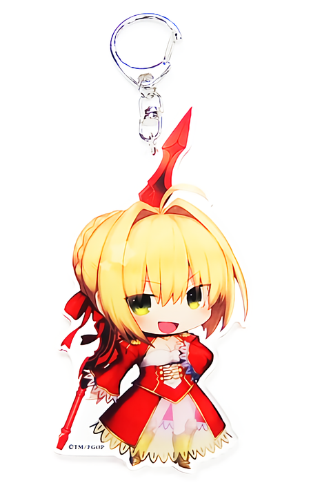 Fate Grand Order FGO Fes CharaToria Red Saber Nero Claudius - Exclusive Acrylic Key Chain