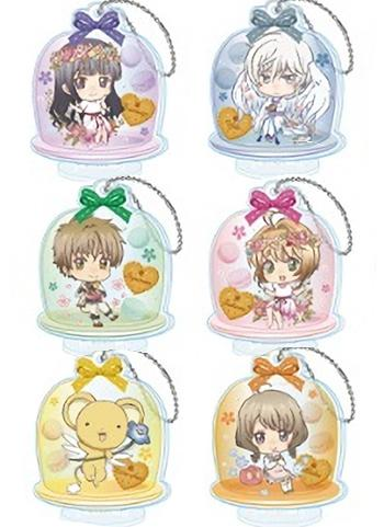 Cardcaptor Sakura Collab Flower Garden Cafe Character Key Chain w/Stand