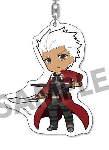 Fate Grand Order Pikuriru Archer Emiya Shirou Acrylic Mascot Key Chain Vol.1