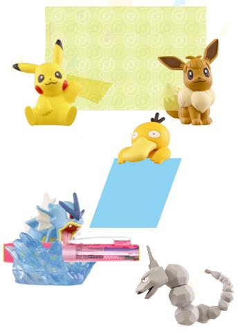 Pokemon Sun & Moon Practical-Use Stationary Figures Helpful Goods Capsule Toy Special Ver.
