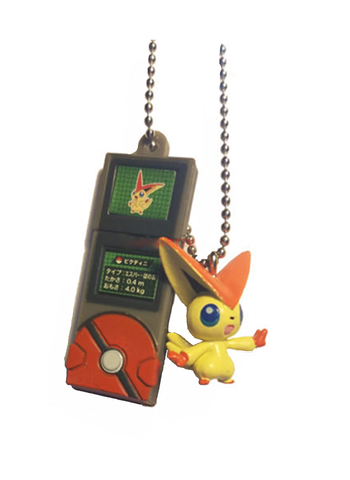 Pokemon - Victini - Pokedex Ball-Chain W-Mascot Key Chain