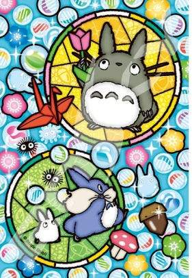 My Neighbor Totoro - Totoro and Glassy Marbles - Ensky Petite Artcrystal Puzzle (126-AC64)