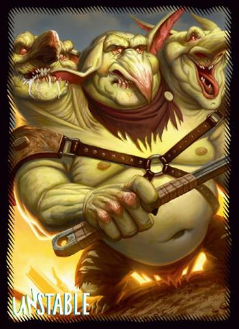 Magic The Gathering - Unstable Three-Headed Goblin - Sleeves MTGS-023 80pcs