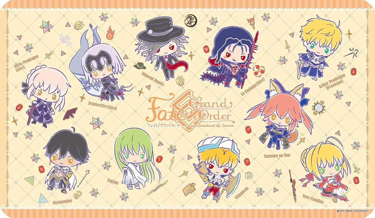Fate Grand Order Sanrio Full Cast - Character Rubber Play Mat ENR-026