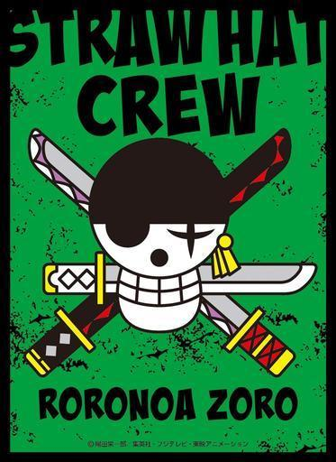 One Piece Jolly Roger Roronoa Zoro - Character Sleeves EN-867