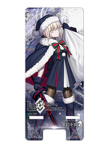 Fate Grand Order Rider Altria Pendragon Santa Smart Mobile Phone Stand FGO
