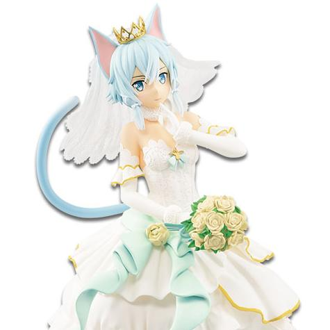 Wedding Ver. Code Register Sinon Figure Statue Banpresto EXQ Sword Art Online
