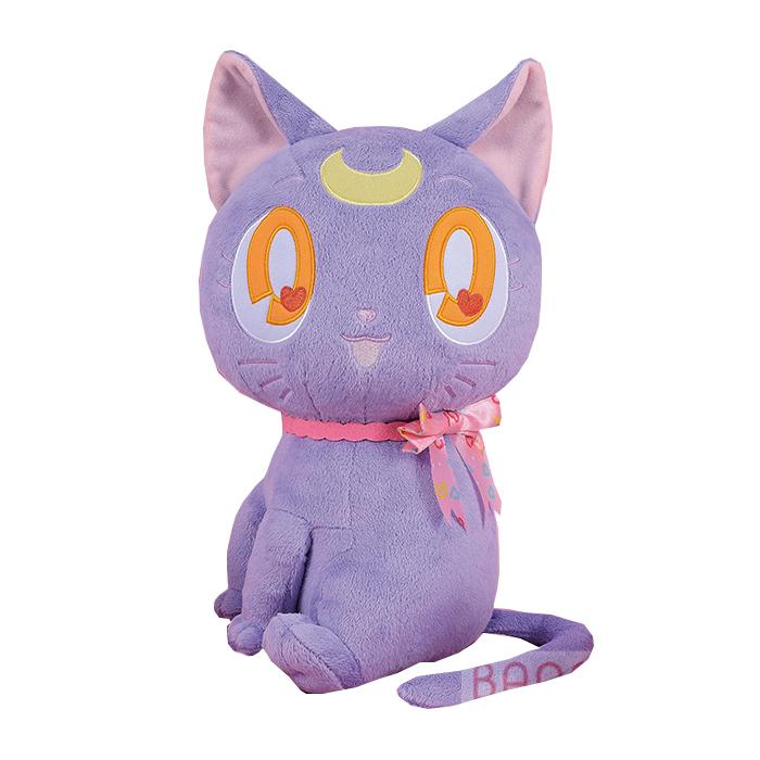 "Sailor Moon Luna Black Guardian Cat 14"" Character Huge Plush Toy Soft Doll"