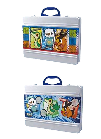 Pokemon - Oshawott Snivy Tepig - Metal Lunch Box Brief Case
