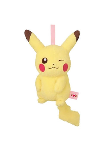 "Pokemon I Love Pikachu 9"" Pink - Belt Pouch Purse Bag Plush Toy"